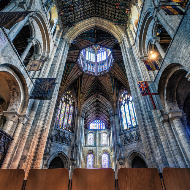 """""""Ely Cathedral, North and South Transepts, Ely UK."""" stock image"""