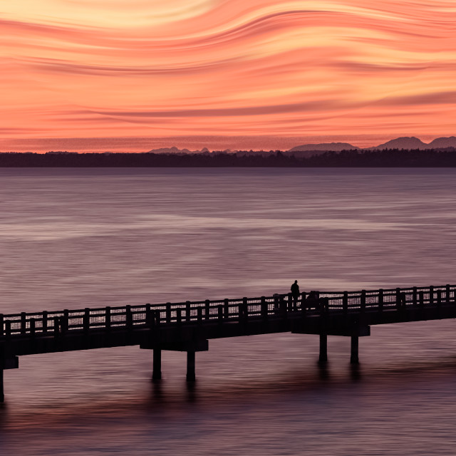 """""""Sunset at the boardwalk"""" stock image"""