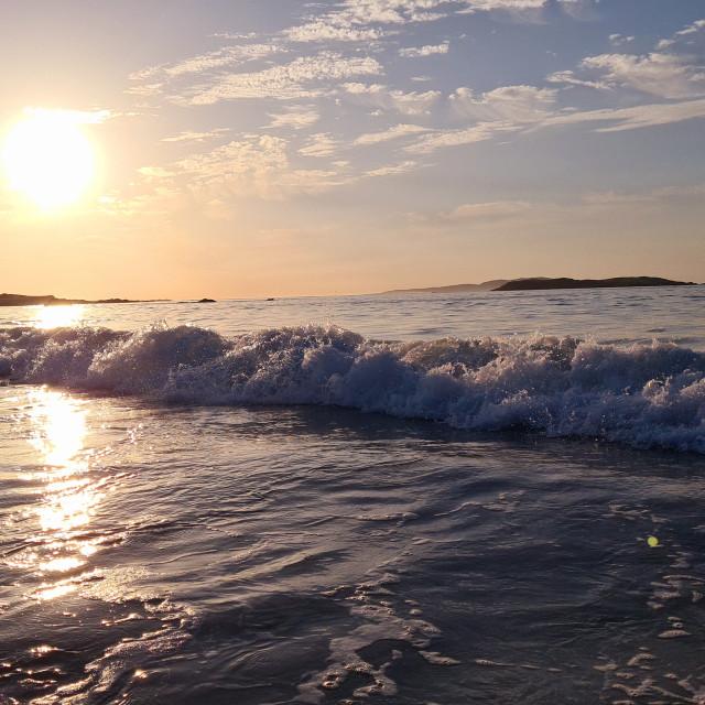"""""""Sunset wave!"""" stock image"""