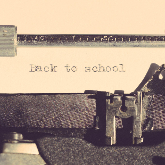 """""""Vintage typewriter with a text"""" stock image"""