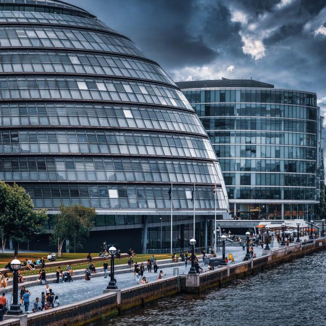 """City Hall, London UK."" stock image"