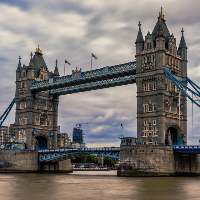 """Tower Bridge, London UK."" stock image"