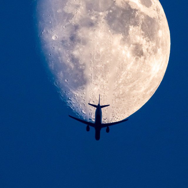 """""""Travel to the Moon"""" stock image"""