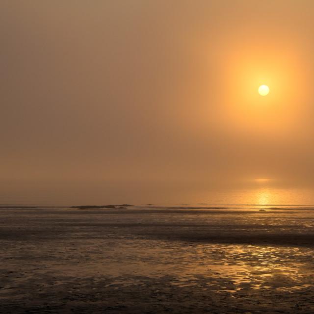 """Sunset at Newport Pembrokeshire"" stock image"