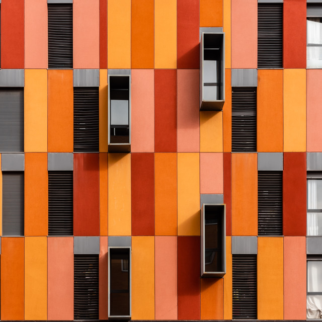 """Modern social housing in Ecobulevar area of Madrid"" stock image"