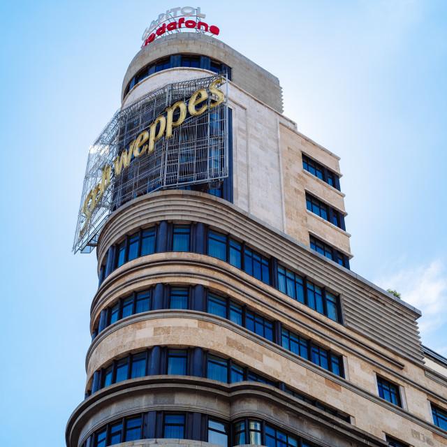 """""""Capitol Building in Gran Via in Madrid"""" stock image"""
