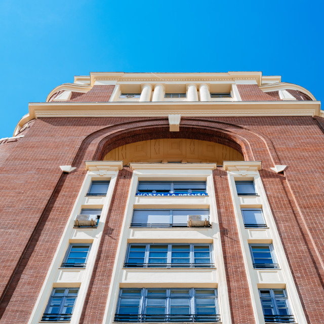 """""""Palacio de la Prensa Building in Gran Via in Madrid"""" stock image"""