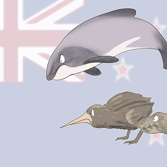 """""""Rats in New Zealand, illustration"""" stock image"""