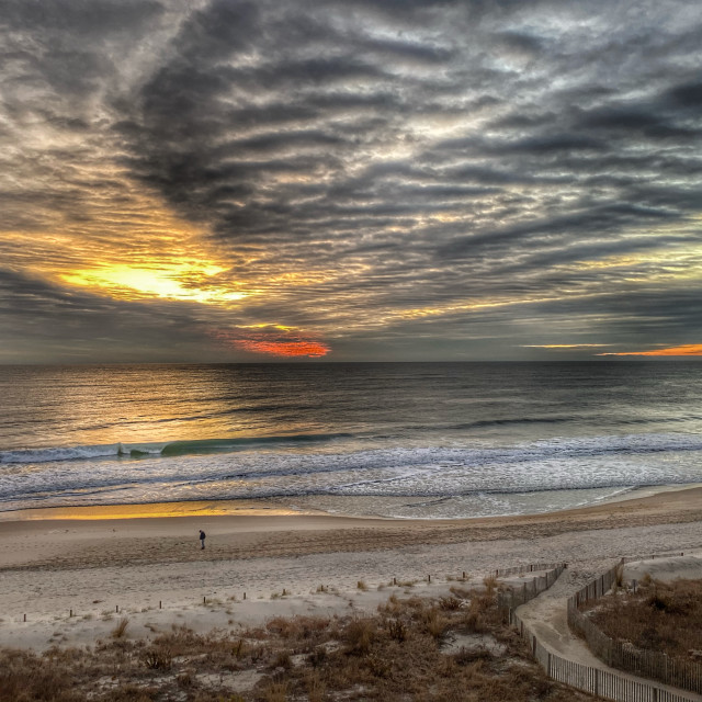 """Cloudy sunrise"" stock image"