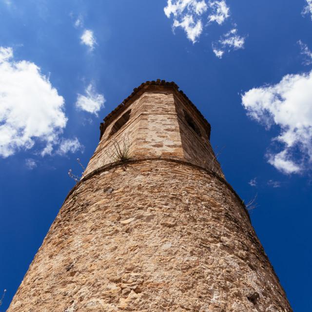 """""""The Medieval Tower of San Felipe in Brihuega, Guadalajara"""" stock image"""
