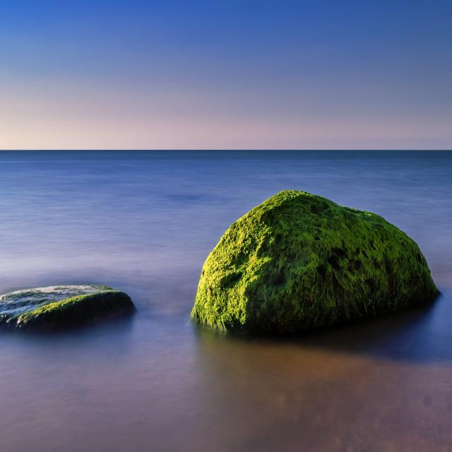 """Blue Hour from Hunstanton Beach, UK."" stock image"