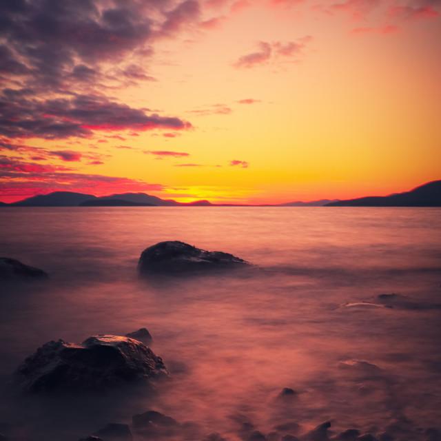 """Clayton beach sunset"" stock image"