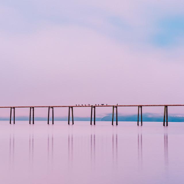 """Early morning reflecting"" stock image"