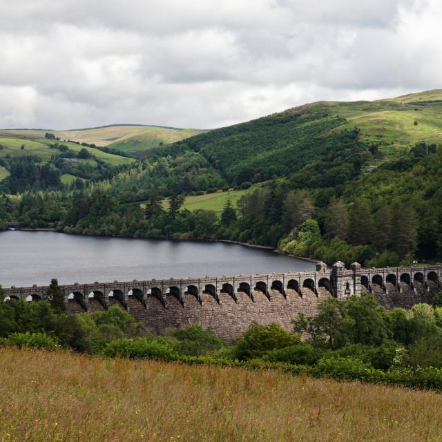"""""""Lake Vyrnwy Reservoir"""" stock image"""