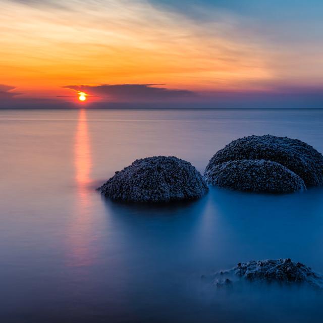"""Long Exposure Sunset from Hunstanton Beach, UK."" stock image"