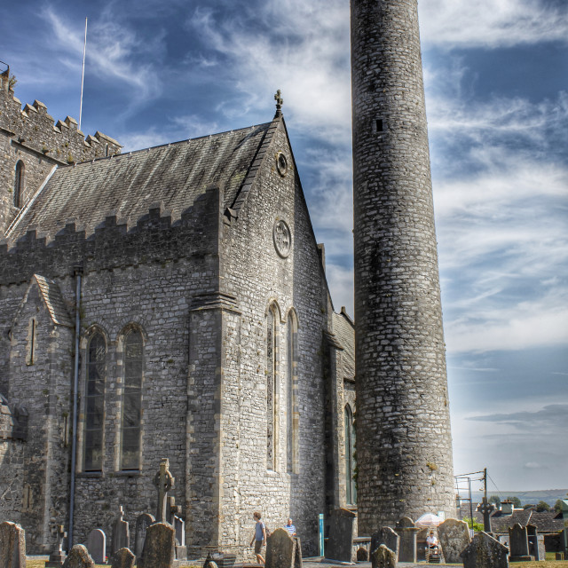 """""""Saint Canice's Cathedral in Kilkenny"""" stock image"""