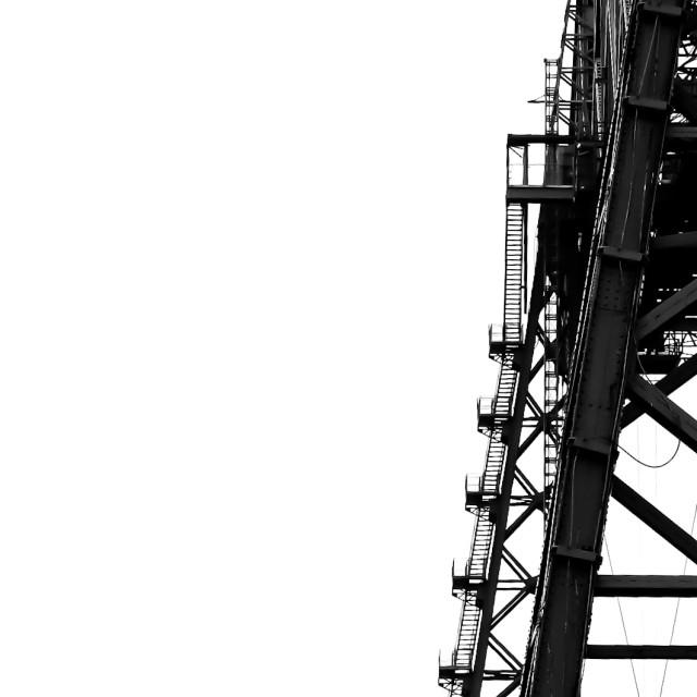 """Transporter Bridge"" stock image"