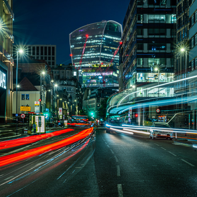 """""""Looking across towards the financial district, London, UK"""" stock image"""