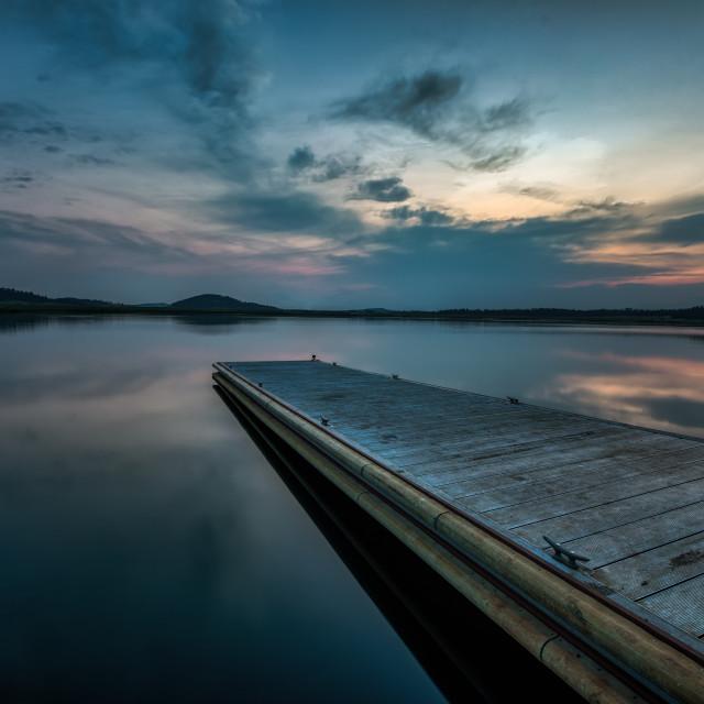 """""""Big Lake and Dock"""" stock image"""