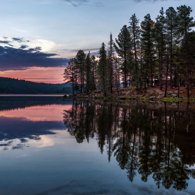 """""""Camping on the Lake"""" stock image"""