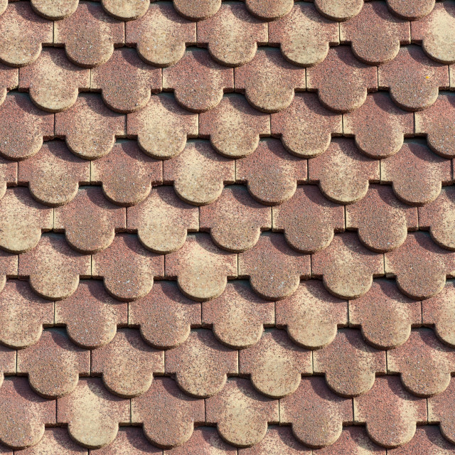 """""""scalloped roofing tiles 3"""" stock image"""