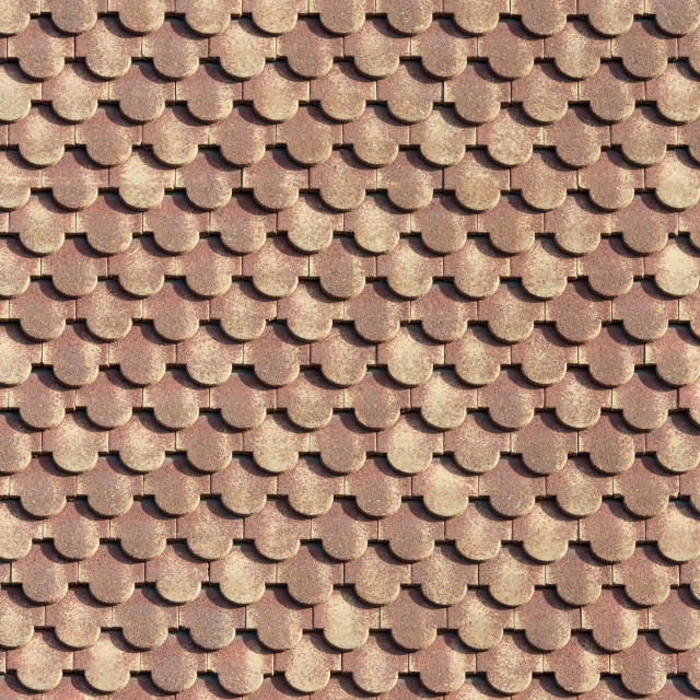 """""""scalloped roofing tiles 2"""" stock image"""