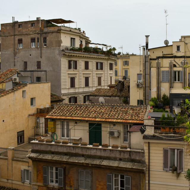 """""""Back Streets of Rome"""" stock image"""