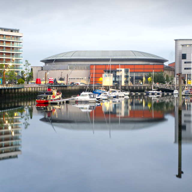 """""""Belfast Harbour Marina and SSE Arena"""" stock image"""