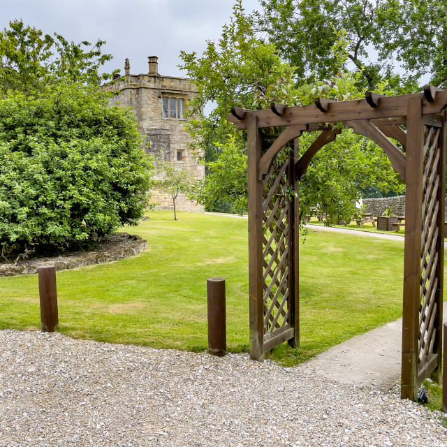 """""""The Old Chapel Entrance, Barden Tower."""" stock image"""