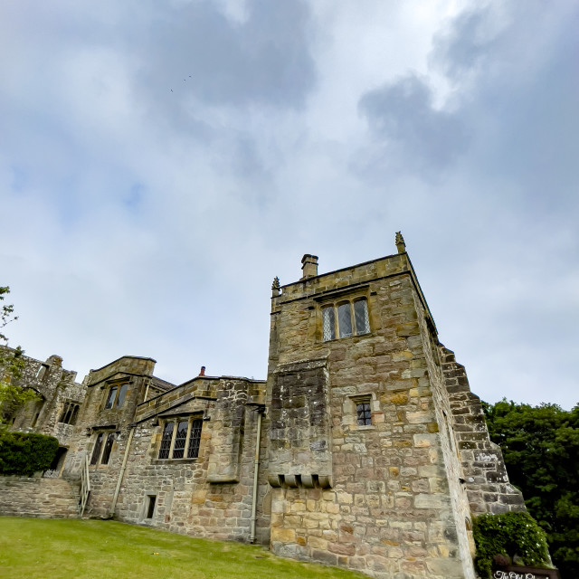 """""""Barden Tower, Chapel and Priest House."""" stock image"""