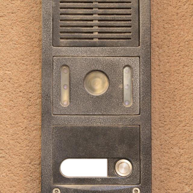 """""""Intercom from an apartment"""" stock image"""