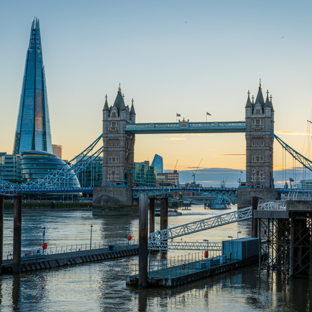 """""""View of London during sunset"""" stock image"""