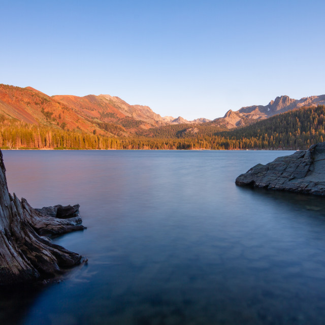 """""""Sunset on Lake Mary in Mammoth Lakes"""" stock image"""