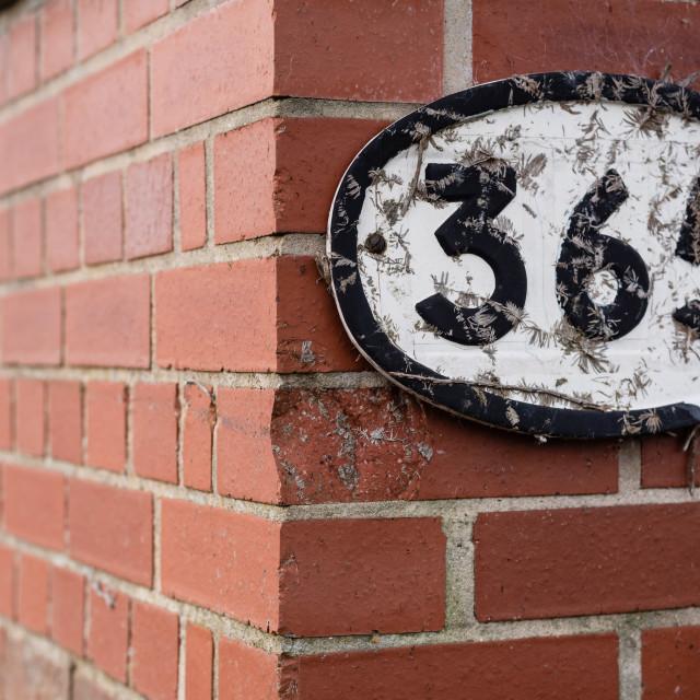 """365 rail bridge identification sign, Middle Road, Thorpe St Andr"" stock image"