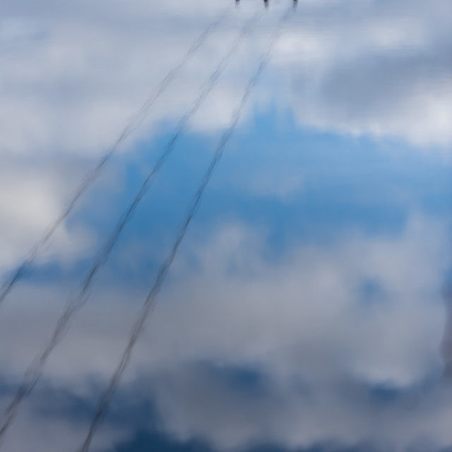 """telephone wires puddle reflection"" stock image"