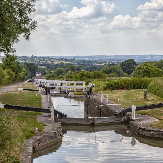 """Caen Hill Locks"" stock image"