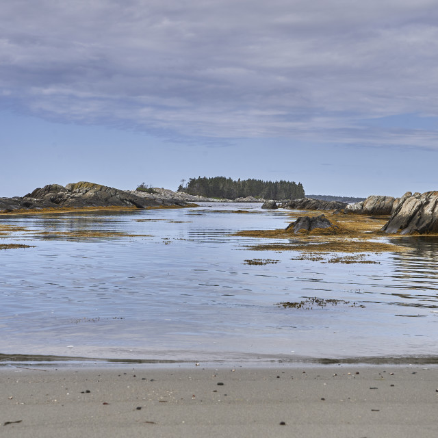 """""""Low tide at middle island"""" stock image"""