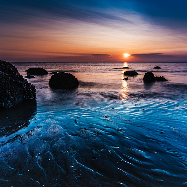 """Sunset from Hunstanton Beach, UK."" stock image"