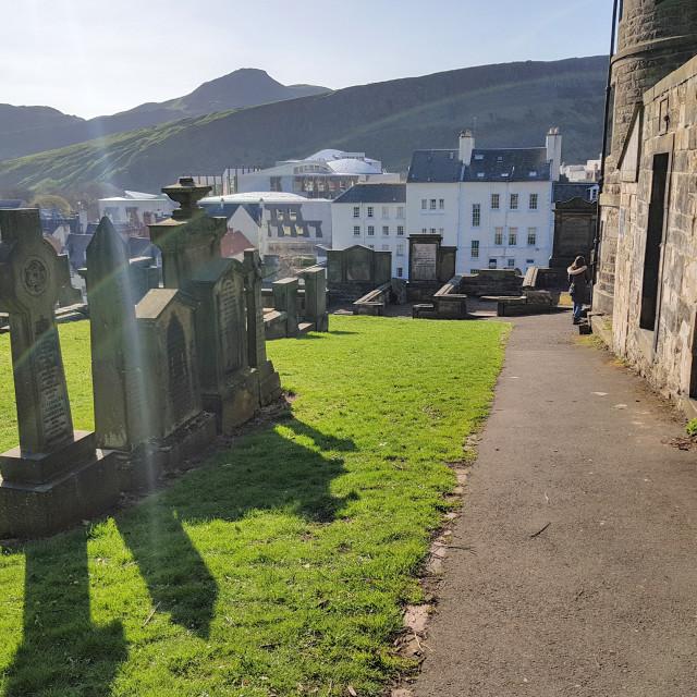 """""""New Calton Burial Ground, Edinburgh"""" stock image"""