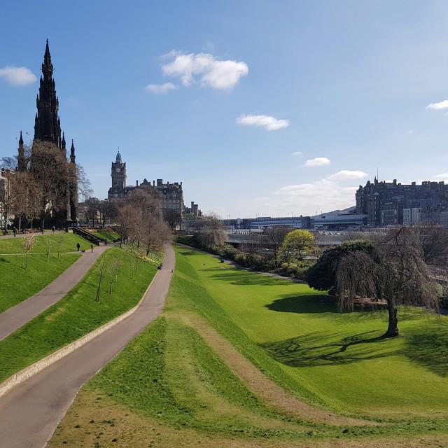 """East Princes Street Gardens, Edinburgh"" stock image"