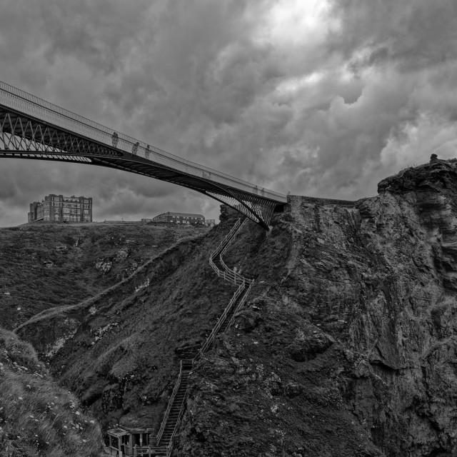 """""""Bridge Across the Gorge"""" stock image"""