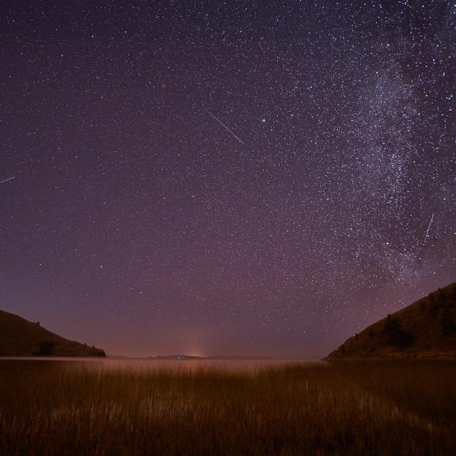 """STARS ON LAKE TITI CACA"" stock image"