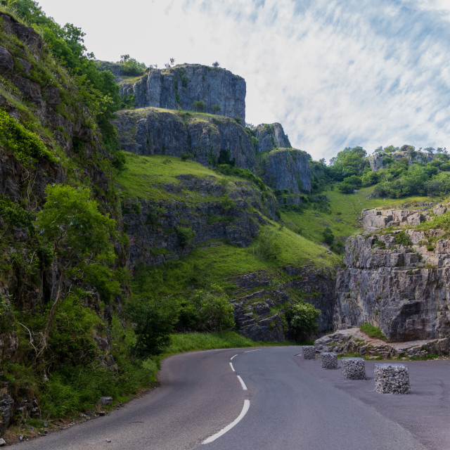 """""""Road Into The Gorge"""" stock image"""