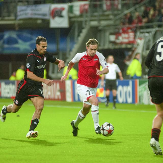 """Alkmaar The Netherlands 24 November 2009 Champions League AZ Alkmaar vs..."" stock image"