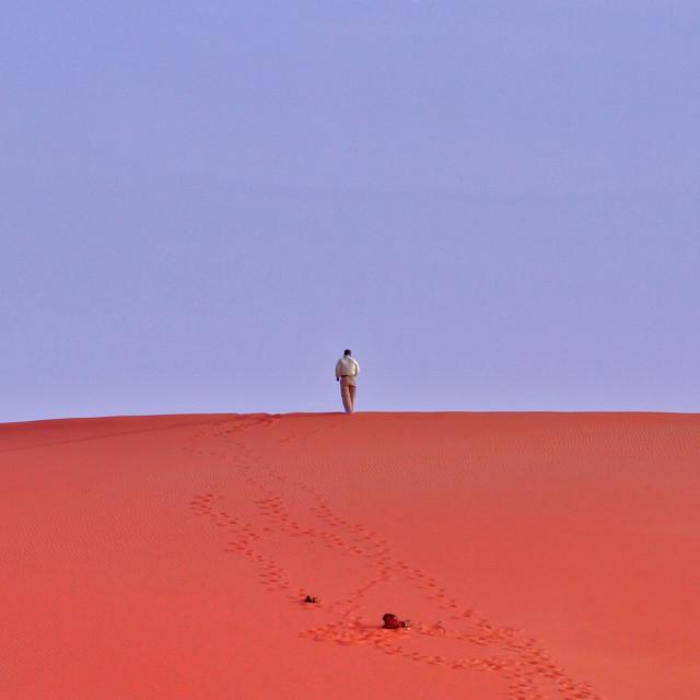"""Walking Alone"" stock image"