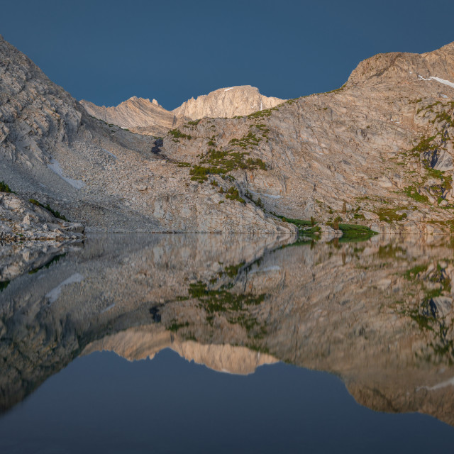 """""""Mount Dade Reflected in Ruby Lake"""" stock image"""