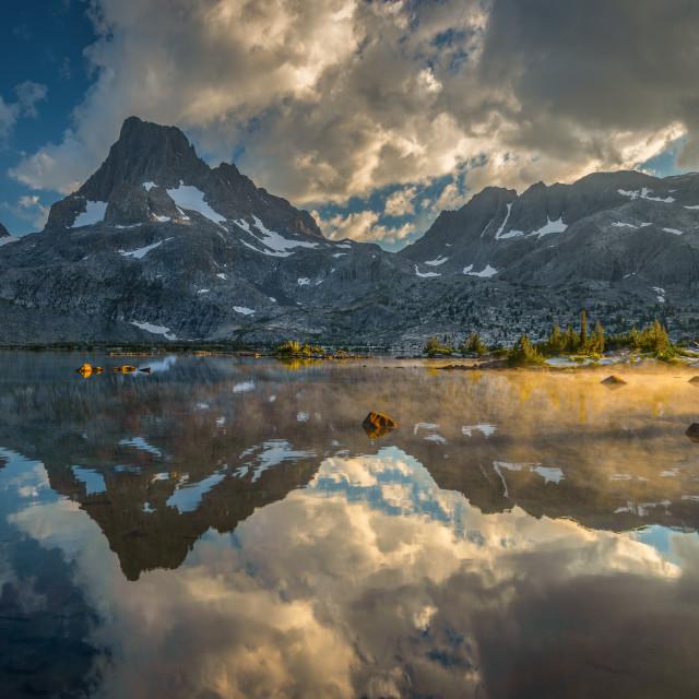 """Banner Peak and Thousand Island Lake"" stock image"