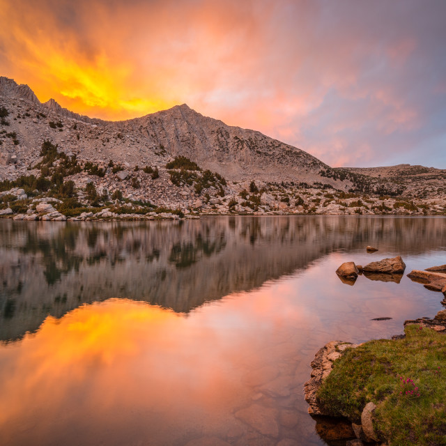 """Sunset Over Mount Crocker in the Pioneer Basin"" stock image"