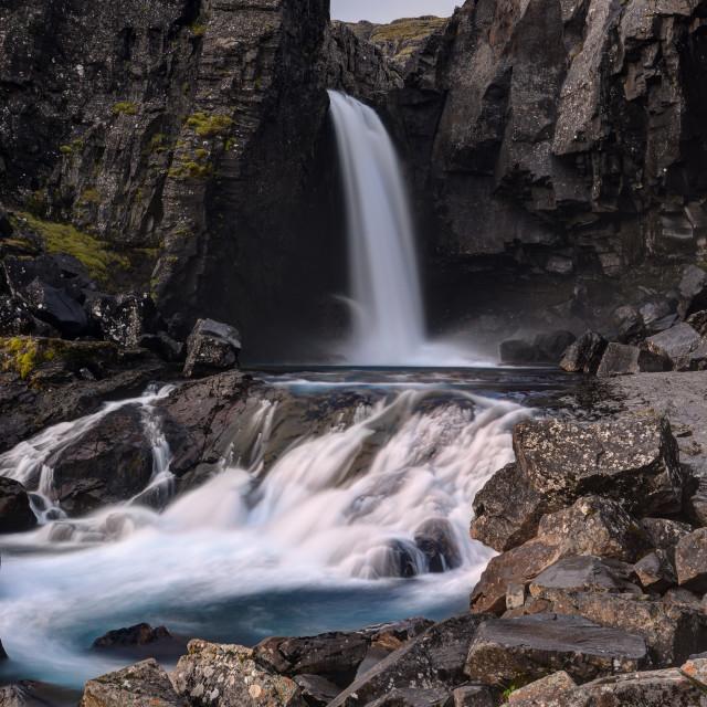 """""""Fossarfell Waterfall"""" stock image"""