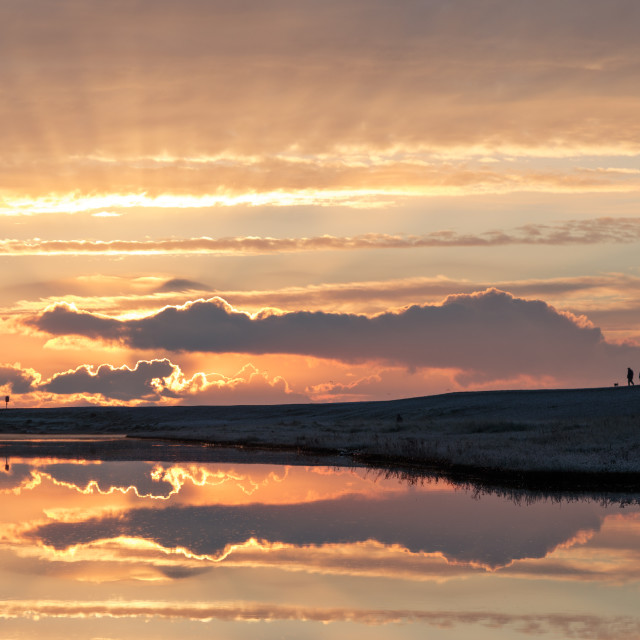 """""""Spectacular Sunrise at Budleigh Salterton"""" stock image"""